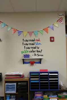 Tangled with Teaching: Dr. Seuss Classroom Theme PHOTOS..if i get 1st grade i am totally doin this...2nd might be too old to appreciate it :)