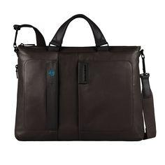 Piquadro Pulse Erweiterbare Laptoptasche mit Tablet-Tasche chocolate