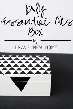 DIY Essential Oil Box with DIY clay base to keep them upright!