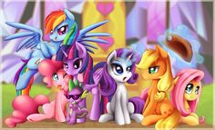 My Little Pony Wallpaper by TheNornOnTheGo.deviantart.com on @DeviantArt