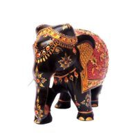 Buy Wooden Hand Painted Elephant Online Elephant India, Hand Carved, Hand Painted, Wooden Elephant, Wooden Statues, Wooden Hand, Aboriginal Art, Carving, Stuff To Buy