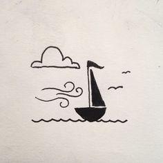 Breezing Away to Destination – Doodles Mini Drawings, Small Drawings, Doodle Drawings, Easy Drawings, Drawing Sketches, Drawing Ideas, Cute Drawings Tumblr, Simple Doodles, Simple Doodle Art