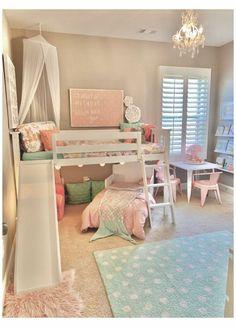 Toddler Room Decor, Toddler Rooms, Baby Room Decor, Toddler Girl Bedrooms, Room Kids, Fun Toddler Beds, Little Girls Room Decorating Ideas Toddler, Toddler Bedding Girl, Little Girl Bedrooms