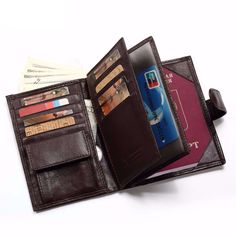 f9f6ee0bf Cheap genuine leather wallet men, Buy Quality leather wallet men directly  from China portfolio men Suppliers: KAVIS Genuine Leather Wallet Men  Passport ...