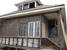 Rear porch before new stairs and improvements by Historic Chicago Bungalow Association, via Flickr