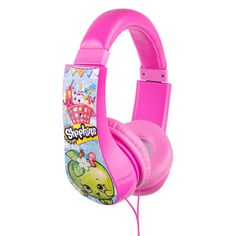 The Shopkins Kids Friendly Headphone features Kids Safe Technology and includes:<br><ul><li>Built-in Volume Limiter- Controls How Loud your Child's Music is in their Ears</li><br><li>Parent Approved</li><br><li>Ages 3-9</li></ul><br><br>The cutest, most-collectible characters from your favorite shops! There are adorable fruits, sweets, dairy and more! Grab your shopping cart, and start - bec...