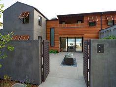 Search Viewer House Siding, Stucco Siding, Stucco Exterior, Stucco Homes, Wood Siding, Grey Exterior, Modern Exterior, Exterior Paint, Wood Homes