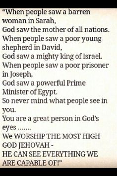 What Jehovah sees in us