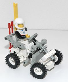 Though not challenging technically, this little car was one of my favorite #lego technic box - 8620 Snow scooter