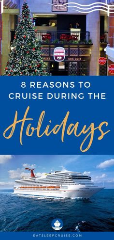 Thinking of taking a cruise during the holidays? Here are our top 8 reasons why a family trip together is the perfect way to celebrate the holidays. Packing List For Cruise, Cruise Tips, Cruise Travel, Cruise Vacation, Cruise Excursions, Cruise Destinations, Caribbean Carnival, Royal Caribbean, Carnival Holiday