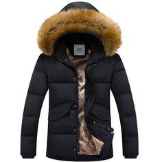 Aliexpress.com: Acheter Marque Parka hommes Homme 2016 mode d'hiver grande fourrure