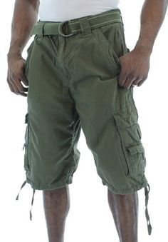 MO7 Most Official Seven Men`s Belted Cargo Shorts Heavy Wash $34.99 #topseller