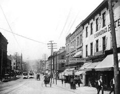 Vintage Pittsburgh,  Pennsylvania, Federal Street, Allegheny City (North Side), in 1893