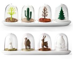 Love these spice jar snow globes!