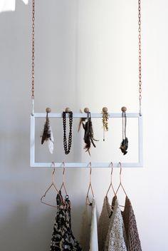 a cool way to organize your weekly wardrobe (+ COPPER hangers? Design Blog, Store Design, Kensington House, Copper Hangers, Archi Design, Wardrobe Storage, Home Office Organization, Interior Decorating, Interior Design