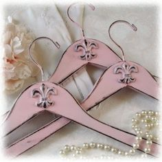 of course I love these French pink hangers