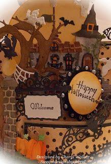 Sweeet Designs By Cheryl: Happy Halloween Bendy Card & Video
