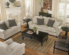 Signature Design By Ashley Milari   Linen Transitional Queen Sofa Sleeper  With Rolled Arms With Nail Head Trim   Marlo Furniture   Sofa Slee.
