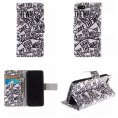 Apple iPhone Case Cover 5 5S SE Wallet Flip PU Leather with Card Holder