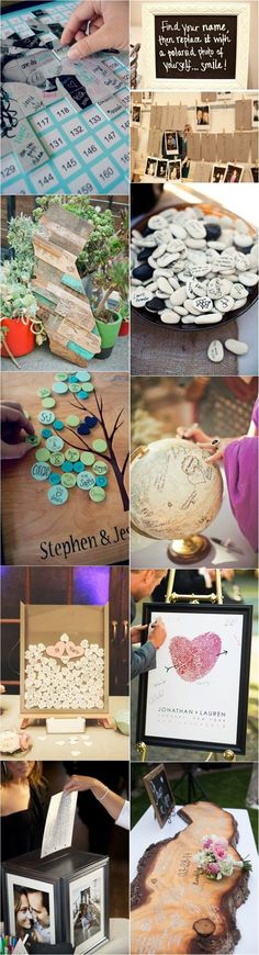 20 Unique and Creative Wedding Guest Book Ideas |