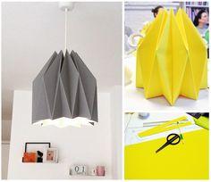 abat-jour en origami