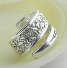 Silver Spoon Ring Tangier 1969 SPOON by CaliforniaSpoonRings
