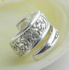 Silver Spoon Ring Tangier 1969 SPOON by CaliforniaSpoonRings