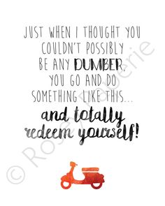 Harry Dunne Dumb and Dumber Digital Art Print by RoseyPaperie