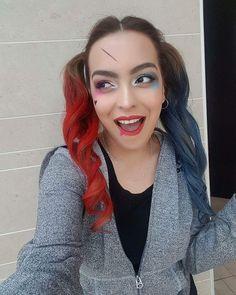 Harley Quinn hair & makeup by Harley Quinn, Hair Makeup, Space, Floor Space, Hairdos, Party Hairstyles