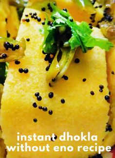 Dhokla Recipe Without ENO, How to make instant dhokla at home,make soft & spongy dhokla without eno,spongy khaman dhokla recipe Indian Desserts, Indian Snacks, Indian Food Recipes, Vegetarian Recipes, Snack Recipes, Cooking Recipes, Healthy Recipes, Ethnic Recipes, Indian Foods