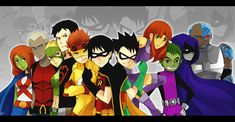 Young Justice and Teen Titans...ok COME ON!!! same comics, same story idea, WHAT HAPPENED TO RAVEN AND STARFIRE AND CYBORG?!?!?!?!?  And then there's beast boy. He does NOT have a tale...most of the time...and he isn't even in the show until later!!!!!! -____- yeah you could say I miss Teen Titans.