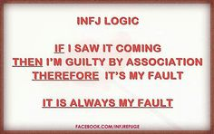 If I saw it coming then I'm guilty by association. Therefore it's always my fault.