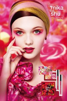 """http://shuuemura.com/index.aspx mika's four wonderlands  - """"mika for shu"""" collection concept evolves around four unique wonderland visuals specially created by Mika Ninagawa herself. Unlock the door to enter  four different wonderlands… Curiosity, forbidden fruits, singing forests and melting sweet dream.   #植村秀 #shuuemura #shuuemura #spring #makeup #mikaninagawa #cosmetics #シュウウエムラ"""
