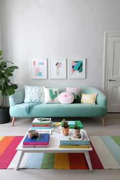 Colores playroom How to create colourful gallery walls with Etsy UK. I show you how to do a Spring refresh of the rooms at home on a limited budget. Living Room On A Budget, Home Living Room, Living Room Designs, Living Room Decor, Bedroom Decor, Bedroom Ideas, Home Decor Furniture, Diy Home Decor, Colourful Living Room