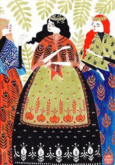 Three Ladies  by dinara mirtalipova