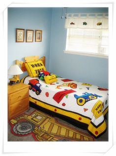 Construction theme toddler bedroom - Boys' Room Designs - Decorating Ideas - HGTV Rate My Space  Eland room