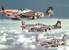 P-51 Mustangs - The fighter plane that made strategic bombing of Germany possible and the plane that won WWII.