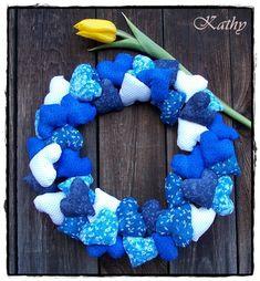 Heart wreath Patchwork, dekorace a doplňky do domácnosti :: Kathy