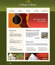 Music College Flash Templates by Di Flash Templates, Music Colleges, Music Education, Good Music, Music Ed, Teaching Music