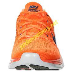 Team Orange 554887 841 Nike Flyknit Lunar 1 Mens Hyper Blue