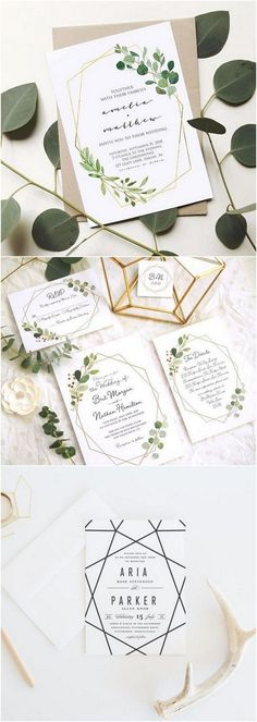 chic modern geometric wedding invitations #weddinginvitations #weddingstationery #wedingcards