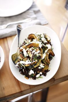Wild Grain & Winter Squash Salad | A Holiday Dinner with Britt Maren via @camillestyles