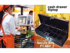 Laci kasir flip top, Secure Box ft-460. Efisien digunakan ditempat terbatas, Fungsi pengaman kunci ganda dan praktis pada saat pergantian shift kasir. Kapasitas penyimpanan uang kertas dan koin lebih besar dan dibuat dari bahan metal anti karat tahan lama.  Info dan konsultasi seputar bisnis retail : Call / Wa / Line : 082141757575 #mesinkasir #cashregister #cashdrawer #printerkasir #barcode #printerbarcode #idcardprinter #digitalscale #scannerbarcode