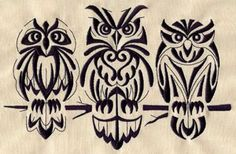 Retro Owls | Urban Threads: Unique and Awesome Embroidery Designs