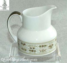 Items similar to Vintage Royal Doulton Samarra Pattern Creamer milk jug TC 1039 on Etsy Royal Doulton, Milk Jug, Milk Glass, Cut Glass, Glass Art, Vintage Tableware, Vintage Silver, Etsy Vintage, Etsy Store