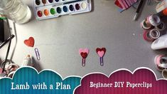 Easy valentine heart paperclips for planners, journals, etc