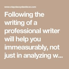 Professional development in writing