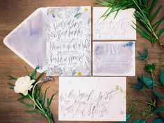 French blue & lavender inspiration shoot featured on Green Wedding Shoes // Shannon Kirsten Illustration Cheap Wedding Invitations, Watercolor Wedding Invitations, Wedding Invitation Suite, Wedding Stationary, Wedding Suite, Handwritten Wedding Invitations, Wedding Calligraphy, Bride Portrait, Green Wedding Shoes