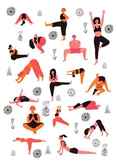 Improve Your Life With Yoga Instruction Yoga Illustration, People Illustration, Digital Illustration, Yoga Images, My Yoga, Freelance Illustrator, Yoga Inspiration, Illustrators, Character Design