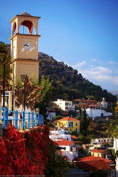 GREECE CHANNEL | Clock Tower at Lappa, #Crete, #Greece http://www.greece-channel.com/